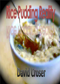 Rice Pudding Reality cover